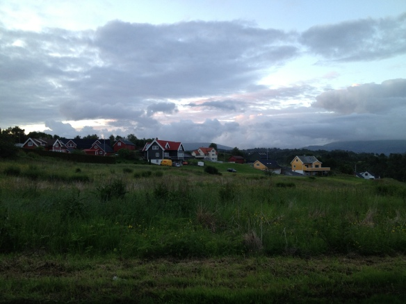 houses near the campsite