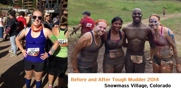 tough mudder before and after