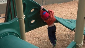 kid falls off playground